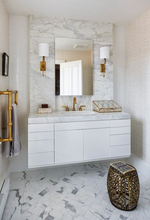 25 Luxury Gold Master Bathroom Designs With Gold Fixtures