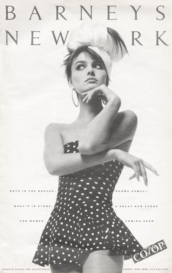 24b6b1c2b189 Vintage ad feat Paulina Porizkova Vintage Prints, Vintage Ads, Vintage Style,  Barneys New