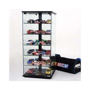 Trophy Display Case Glass Shelves Cabinet Wallcase Tower Wall Showcase Tall Home