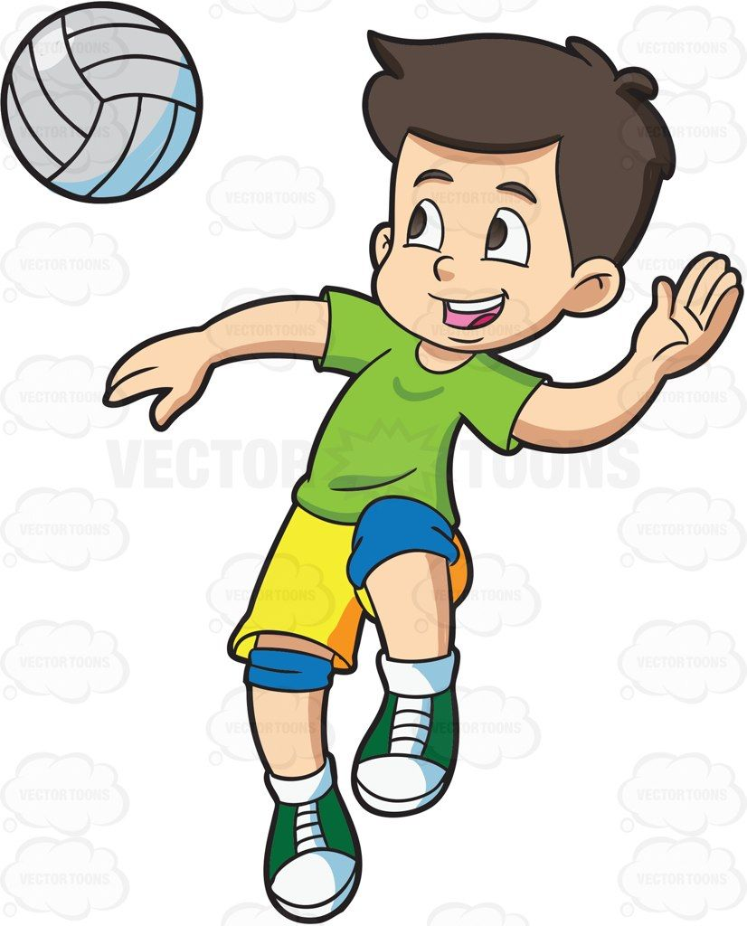 A Boy Spiking A Volleyball Football Kids Boys Volleyball