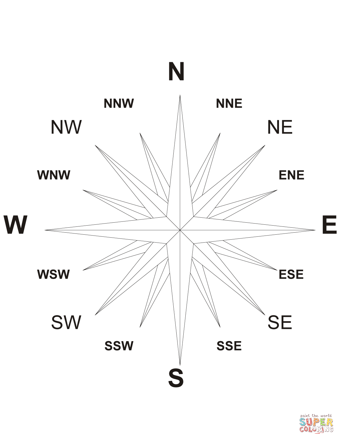 16 Wind Compass Rose