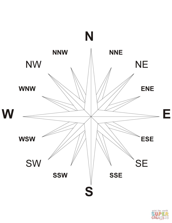 16 Wind Compass Rose