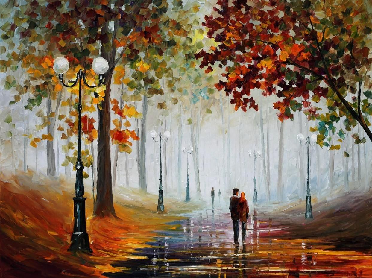 Queres Arte Mira Leonid Afremov Oil Painting Landscape Oil