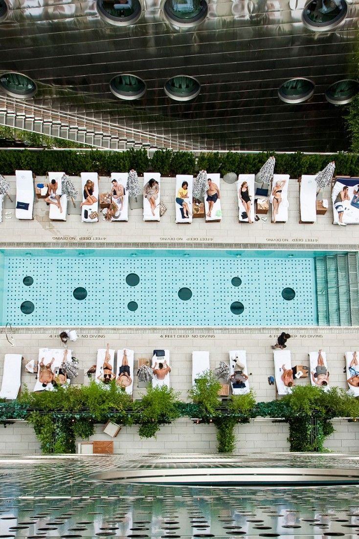 Miami meets Ibiza at this rooftop NYC pool.  Dream Downtown (New York City, New York) - Jetsetter