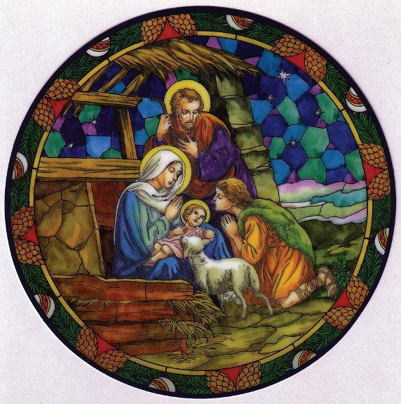 Nativity Suncatcher Stickers Stained Glass Suncatchers