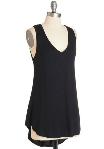 Endless Possibilities Tunic in Black | Mod Retro Vintage Short Sleeve Shirts | ModCloth.com
