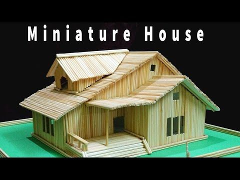 Miniature House Bamboo Stick House .Want To Know How Easy To Create This ?  Click On YouTube Link :https://youtu.be/Y16B6bL _AE