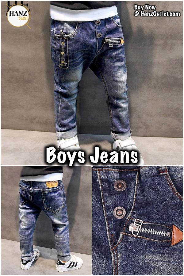 2603078dea Fashion Boys Jeans for Spring Fall Children's Denim Trousers Kids Dark Blue  Designed Pants #BoysJeans #Jeans #BabyJeans #KidsJeans #KidsPants  #BabyPants ...
