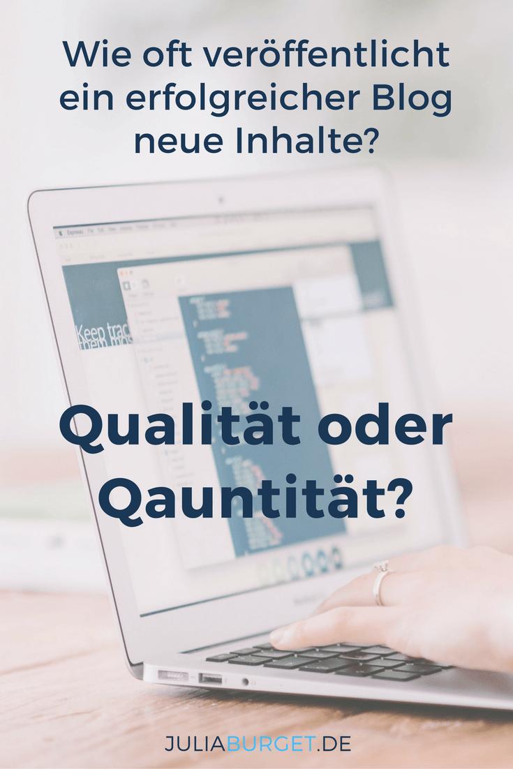 Quantität oder Qualität? Was macht deinen Blog ...