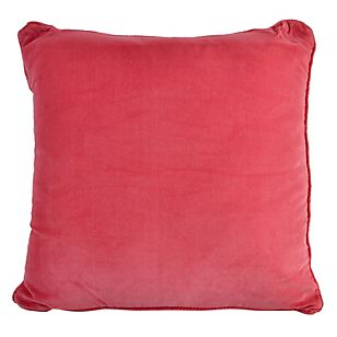 Almohadón terciopelado rojo 45 x 45 cm-Falabella.com