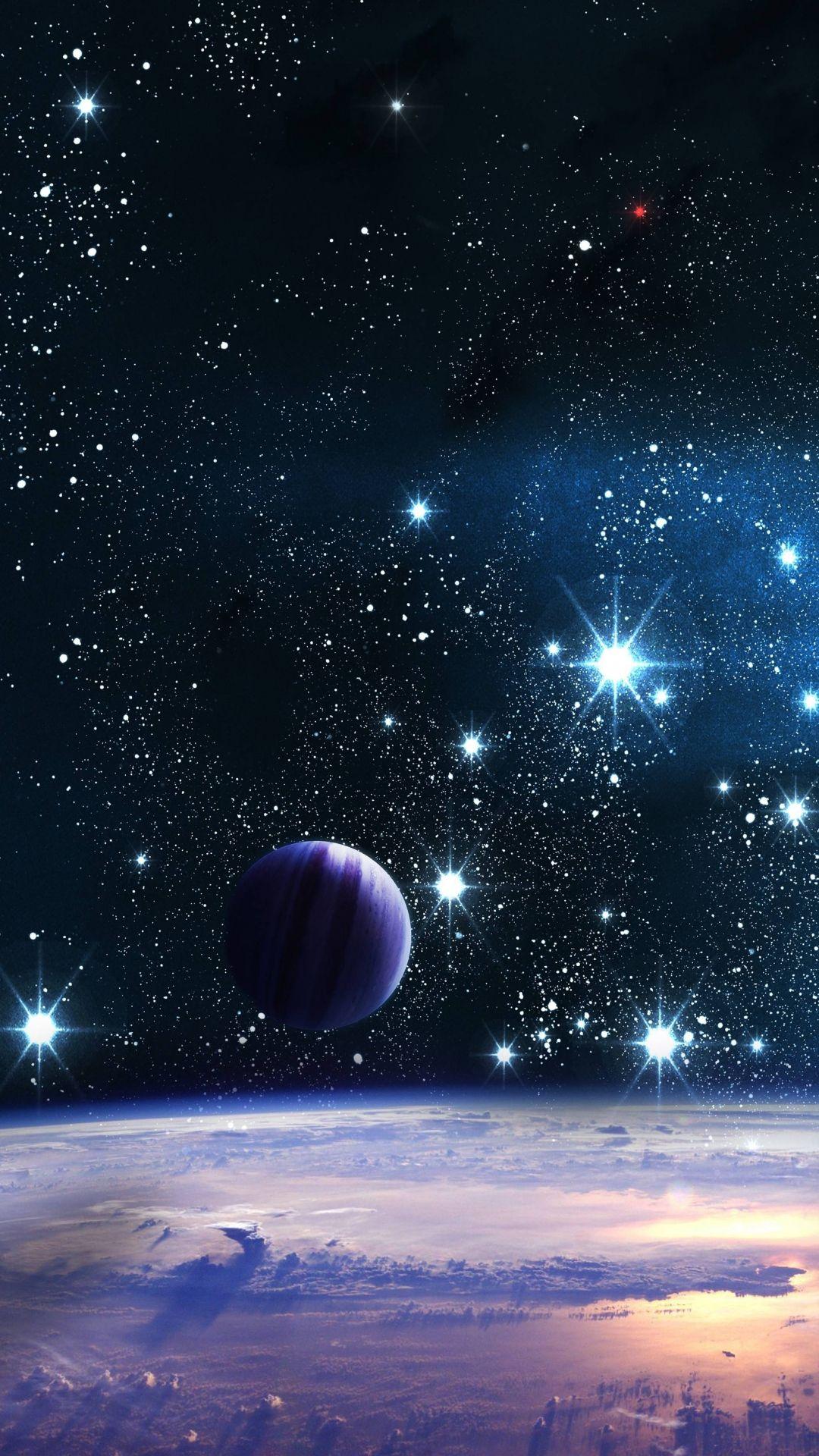 Download Wallpaper 1080x1920 Space Stars Planets Shine Sony Xperia Z1 Zl Z Samsung Galaxy S4 Htc One Galaxy Wallpaper Planets Wallpaper Wallpaper Space