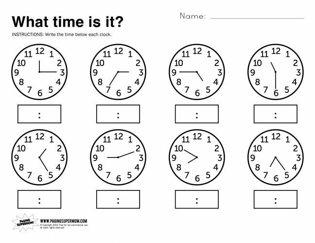 17+ images about Time on Pinterest | Constructed response, Telling ...