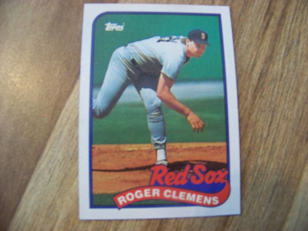 Details About 1989 Topps Roger Clemens Boston Red Sox 450