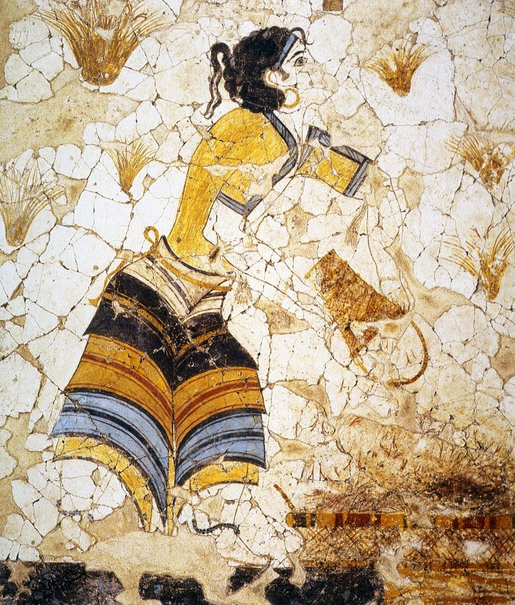 Wall Paintings Of Thera Art Minoan Ancient Greek Art Minoan Art