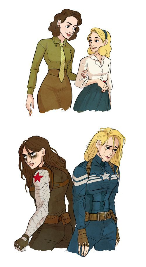 genderbent winter soldier   Rule 63 Captain America and Winter Soldier: Stephanie Rogers and Becky ...
