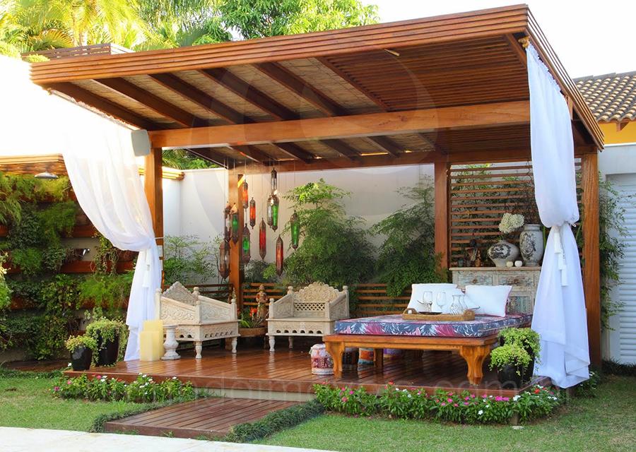 Destaque para o espa o zen um pergolado em estilo for Estilos de cortinas