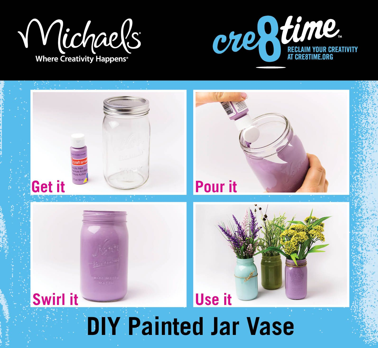 Diy painted vase materials for this project craftsmart acrylic diy painted vase materials for this project craftsmart acrylic paint glass jar floridaeventfo Images