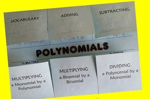 Polynomials Foldable Standard Form Algebra And Maths