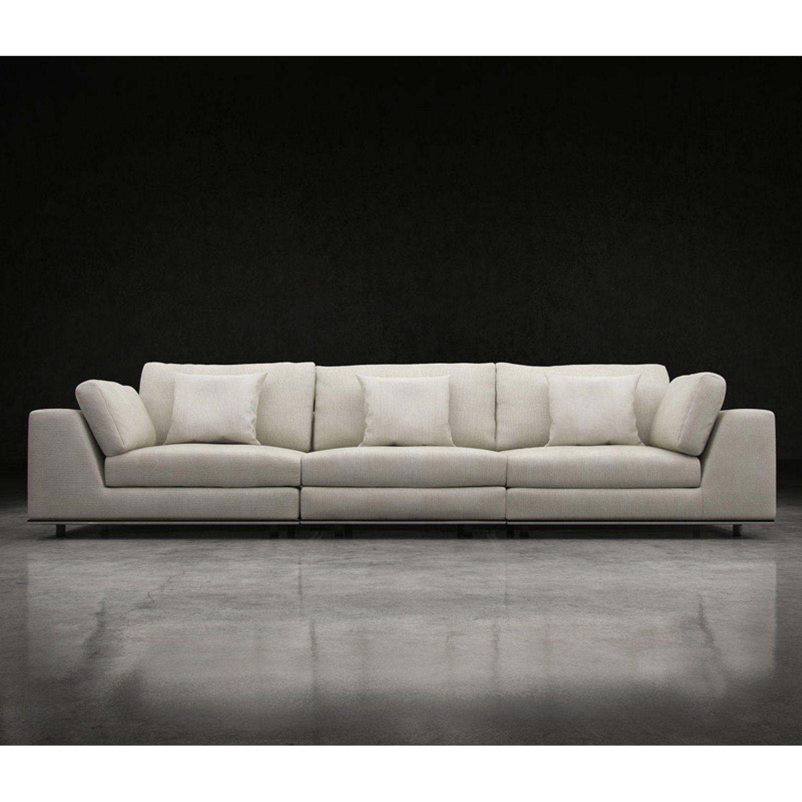 Modloft Perry 3 Piece Sectional Sofa 3 Piece Sectional Sofa Sofa Three Seat Sofa