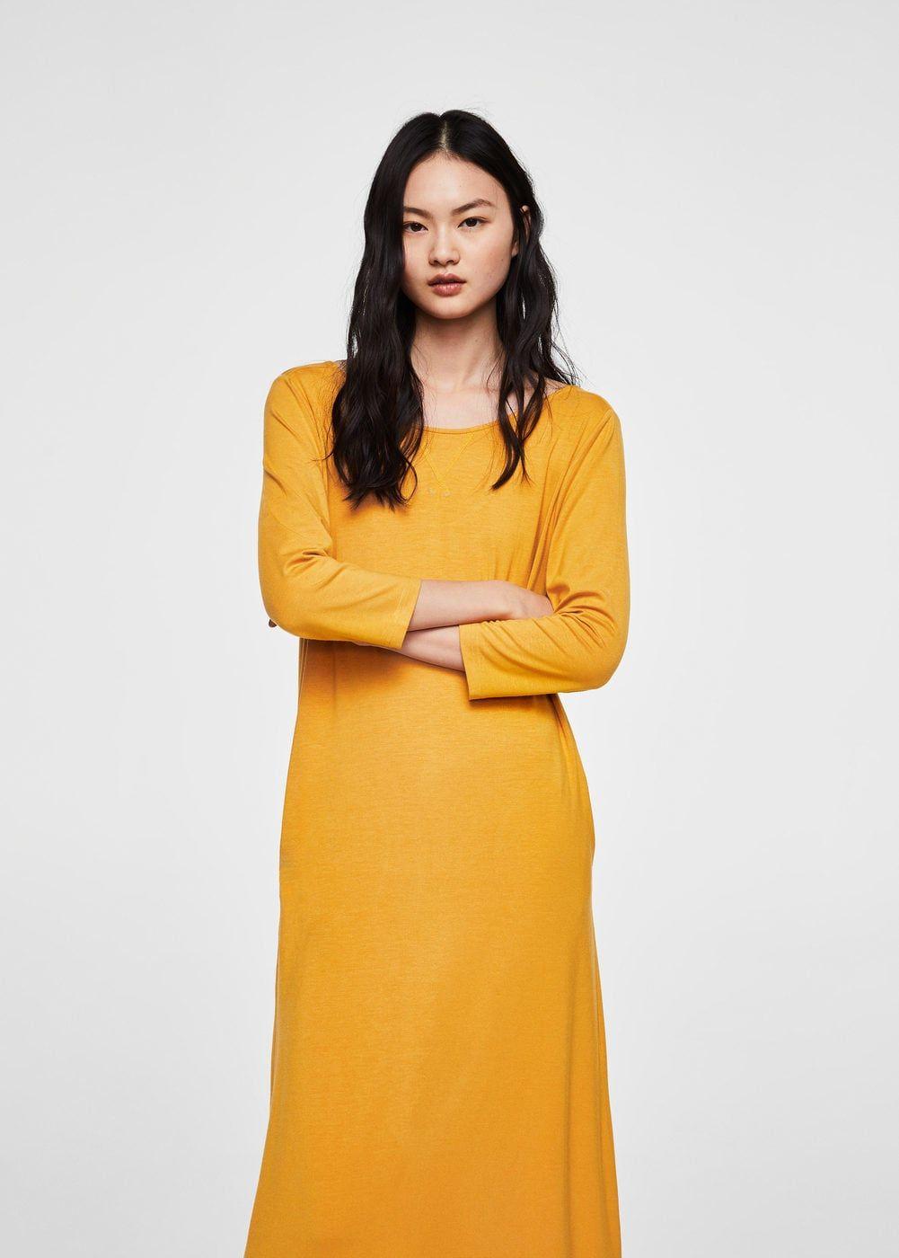 Basic Penye Elbise Kadin Mango Turkiye The Dress Elbise Moda Stilleri
