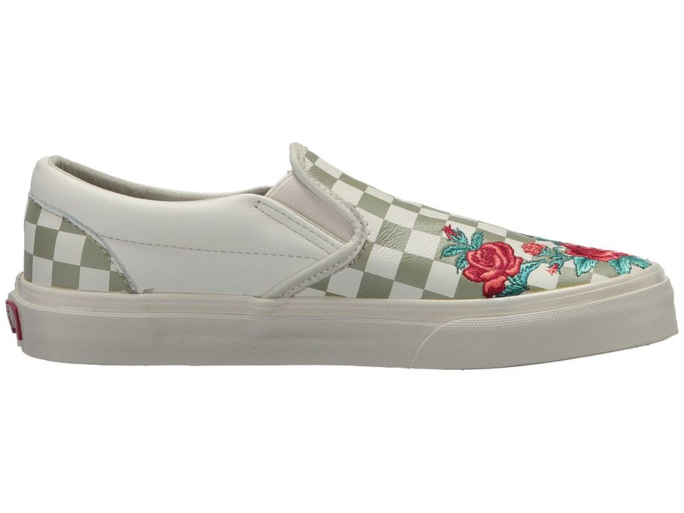 d2851ff7b48d Vans Classic Slip-On DX w  Rose Embroidery Athletic Shoes Marshmallow  Turtledove