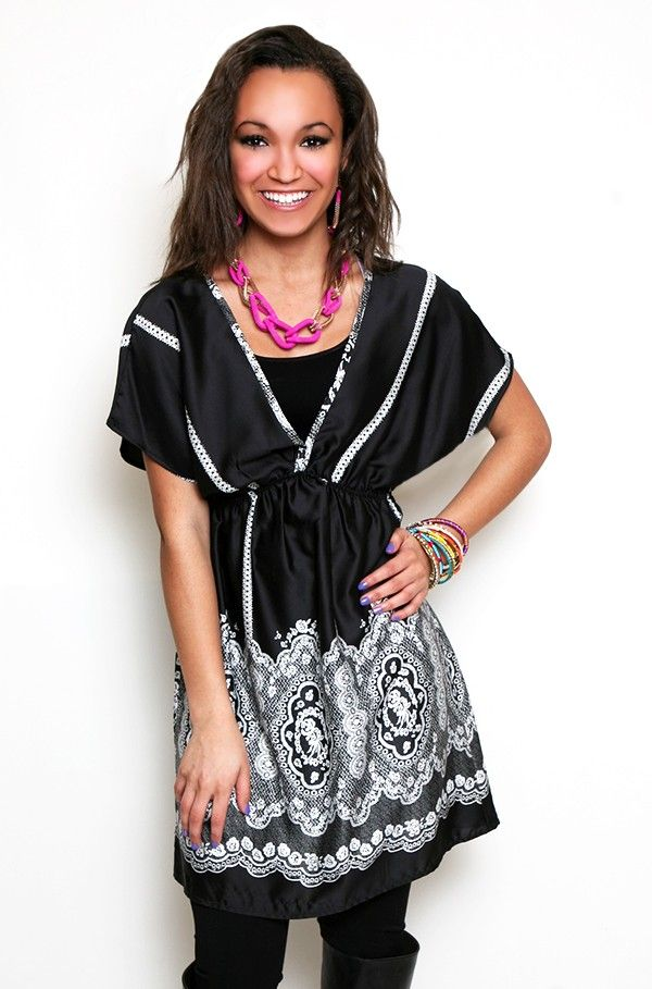 Traced in Lace Tunic Dress
