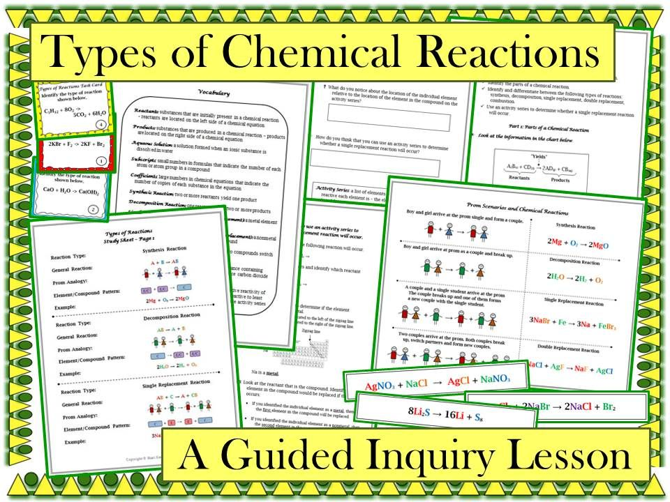 This Guided Inquiry Lesson Enables Students To Construct Their Own Understanding Of How To Identify The Following T Teaching Chemistry Chemistry Lessons Lesson