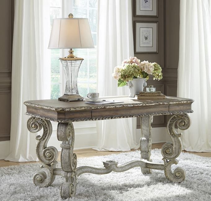 French style writing desk with baroque type legs from Accentrics