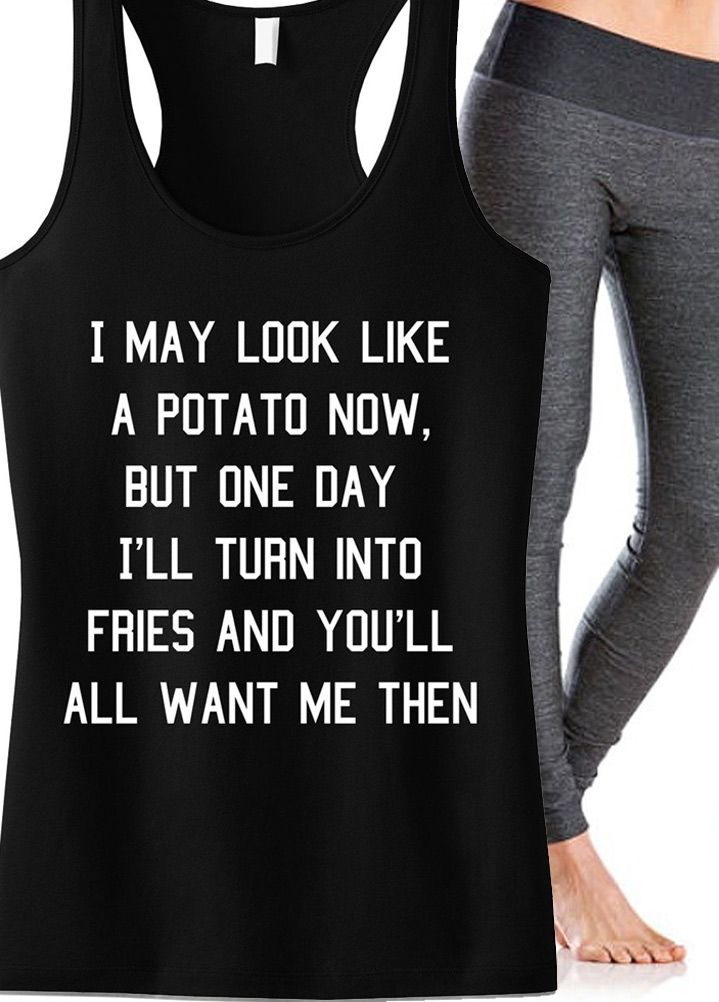 14c025844276c0 Motivate yourself with a new  gym tank! POTATO  workout tank top by NoBull