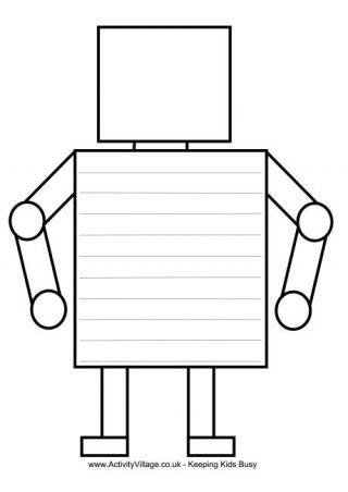 Writing Frames Writing Templates Robot Classroom Robot Theme