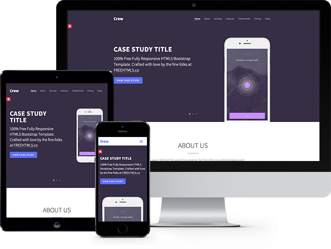 Crew: Free HTML5 Bootstrap Template - Free Responsive HTML5 ...