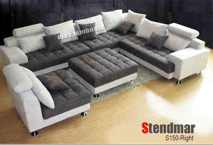 Welcome To Stendmar Com 5pc Modern Fabric Round Sectional Sofa Set