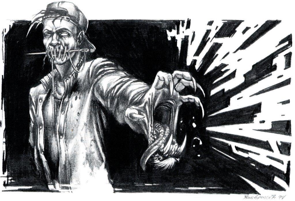 White Wolf, World of Darkness, Ron Spencer. Monster