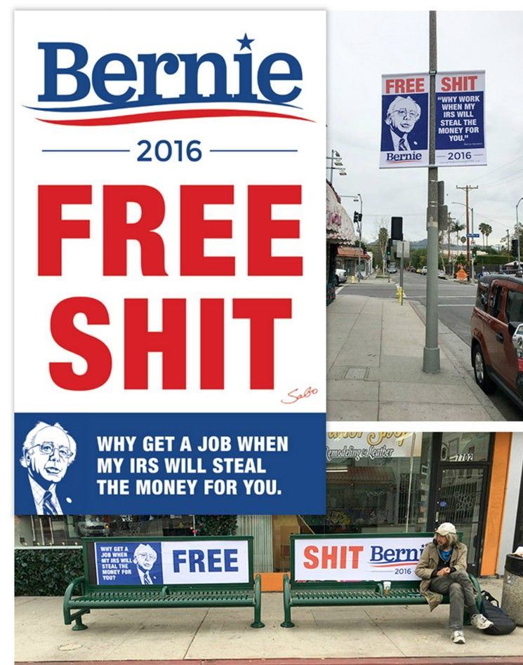 SABO's signs have fooled even the most ardent Bernie supporters.