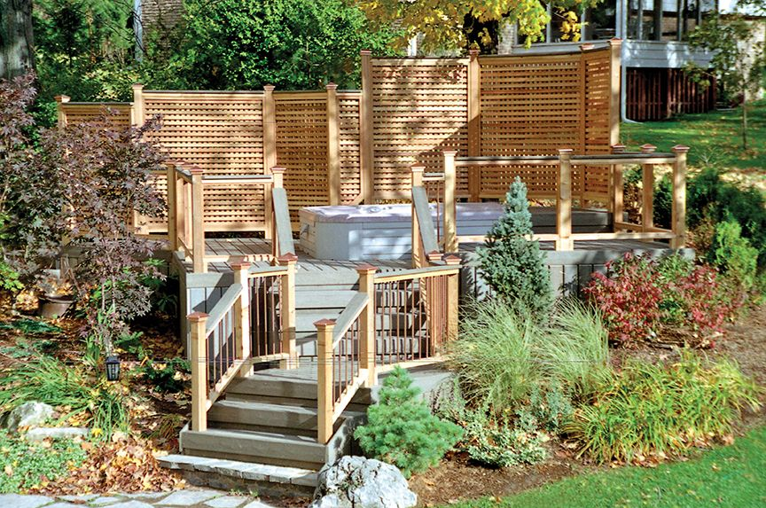 This Spa Deck Is Part Of A Multi Backyard Party Area The Decking