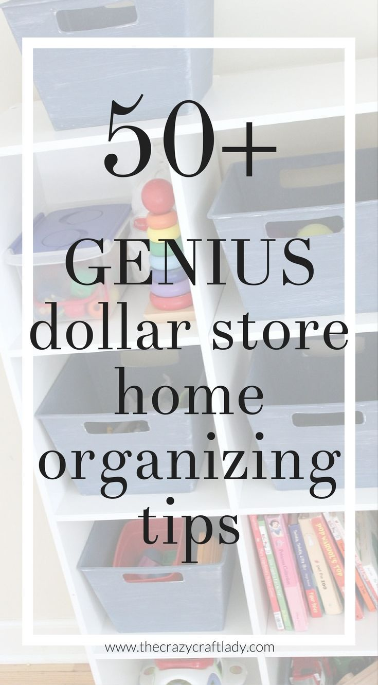 Dollar Store Organizing - Organize Your Entire House With Dollar Store Items #organize