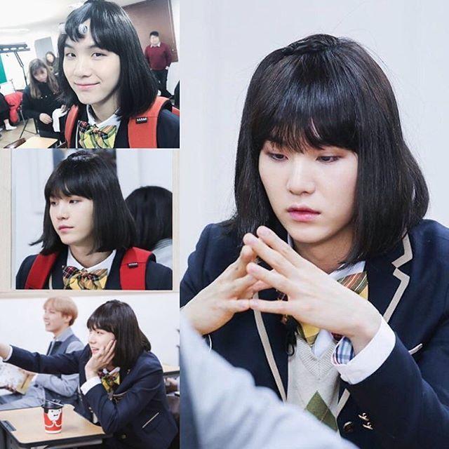 ; #민윤지 ❤️ yoonji min yoon ji minami bts wig -