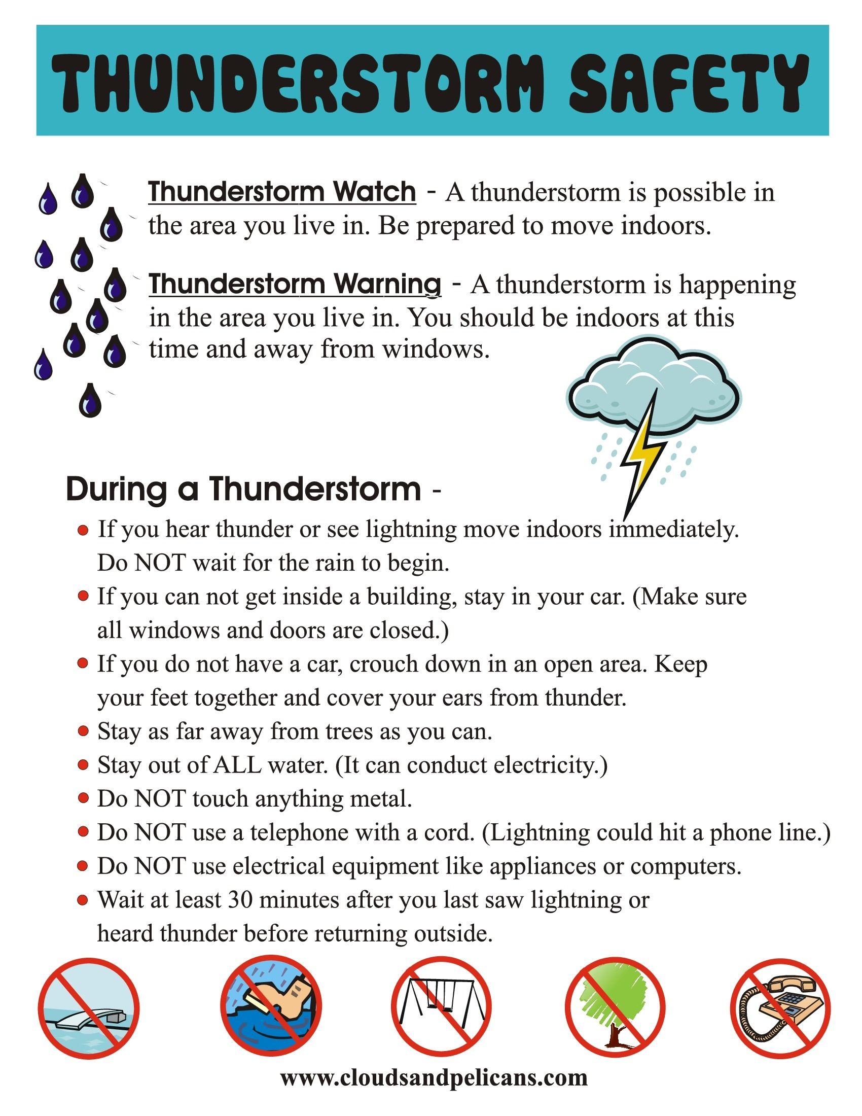 Thunderstorm Safety Tips Thunderstorms, Summer safety