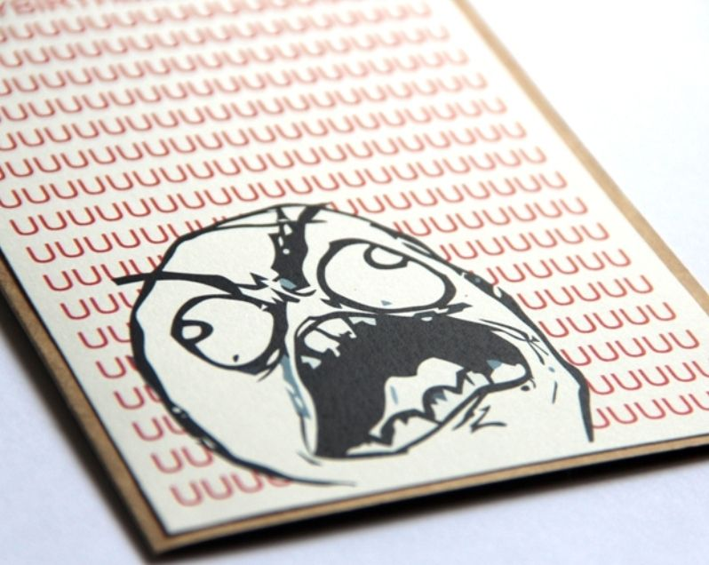 Meme Birthday Card Rage Guy Fu Guy Projects To Try Pinterest