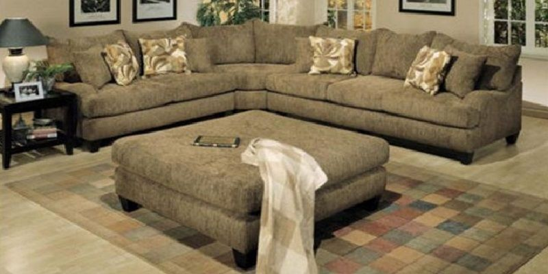 Delightful Michael Alexander Sectional Sofa