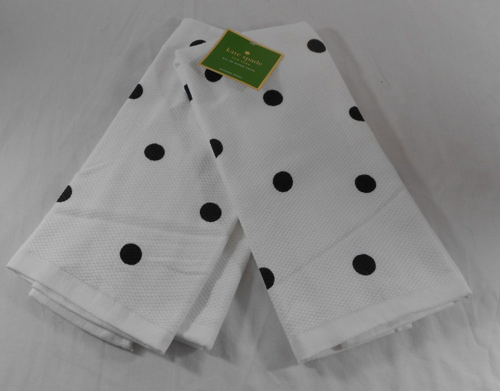 Linen Kitchen Towels New Kate Spade All in Good Taste Set of 2 Kitchen Dish Towels or 2 Pot Holders