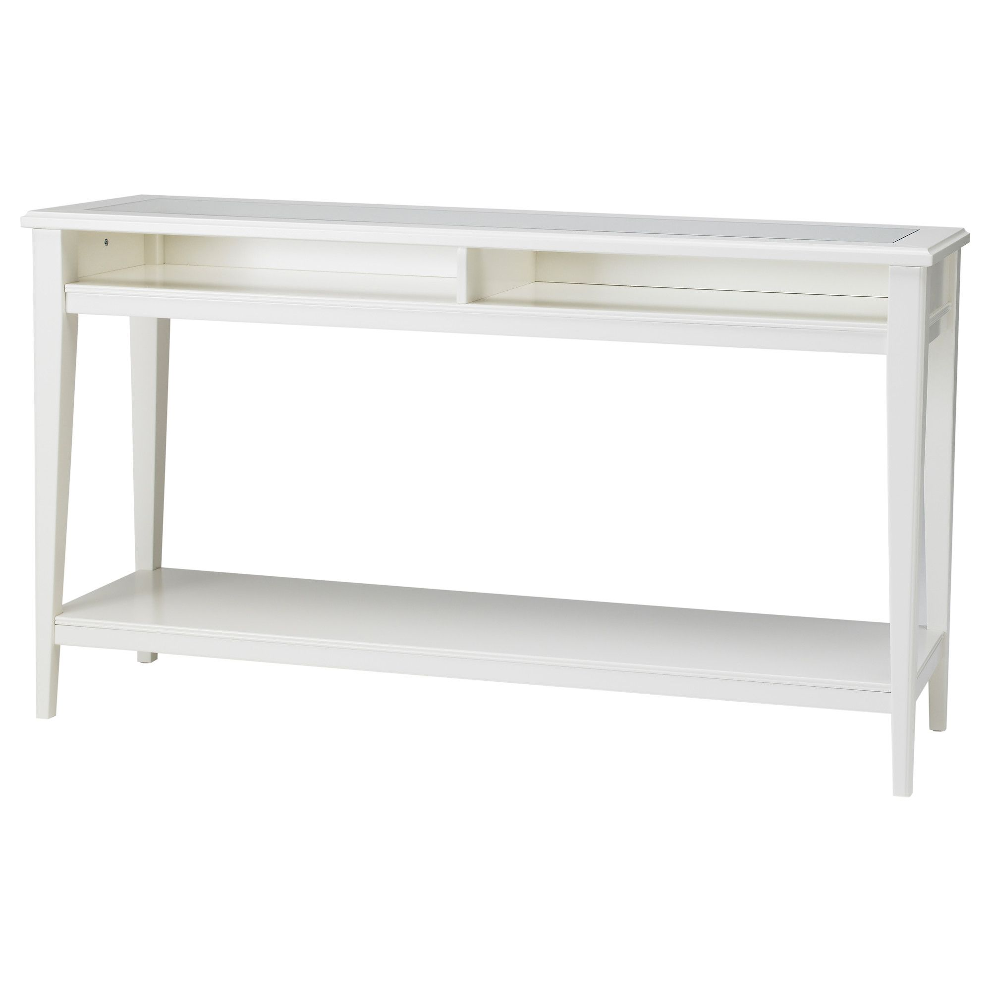 Liatorp Console Table White Glass 52 3 8x14 5 8 Sofa Table