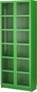 Billy Bookcase With Glass Doors Contemporary Bookcases By