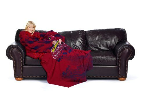 MLB St Louis Cardinals Comfy Throw Blanket With Sleeves Smoke Inspiration St Louis Cardinals Throw Blanket