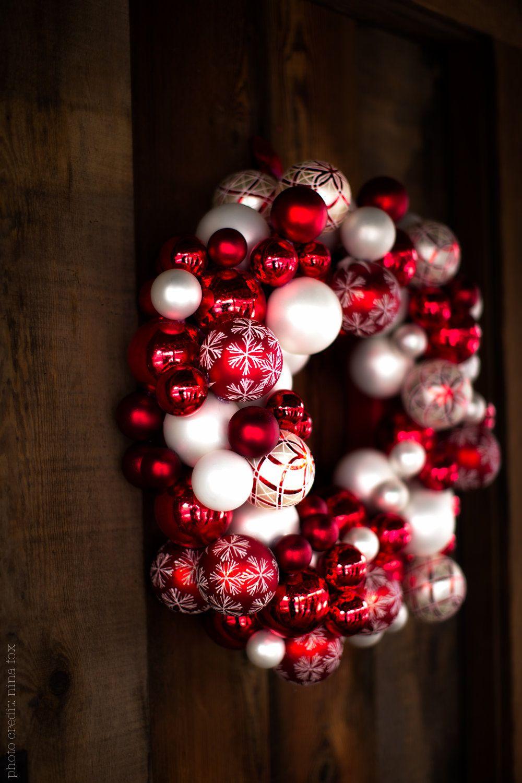 Glass Ball Wreaths. $150.00, via Etsy.
