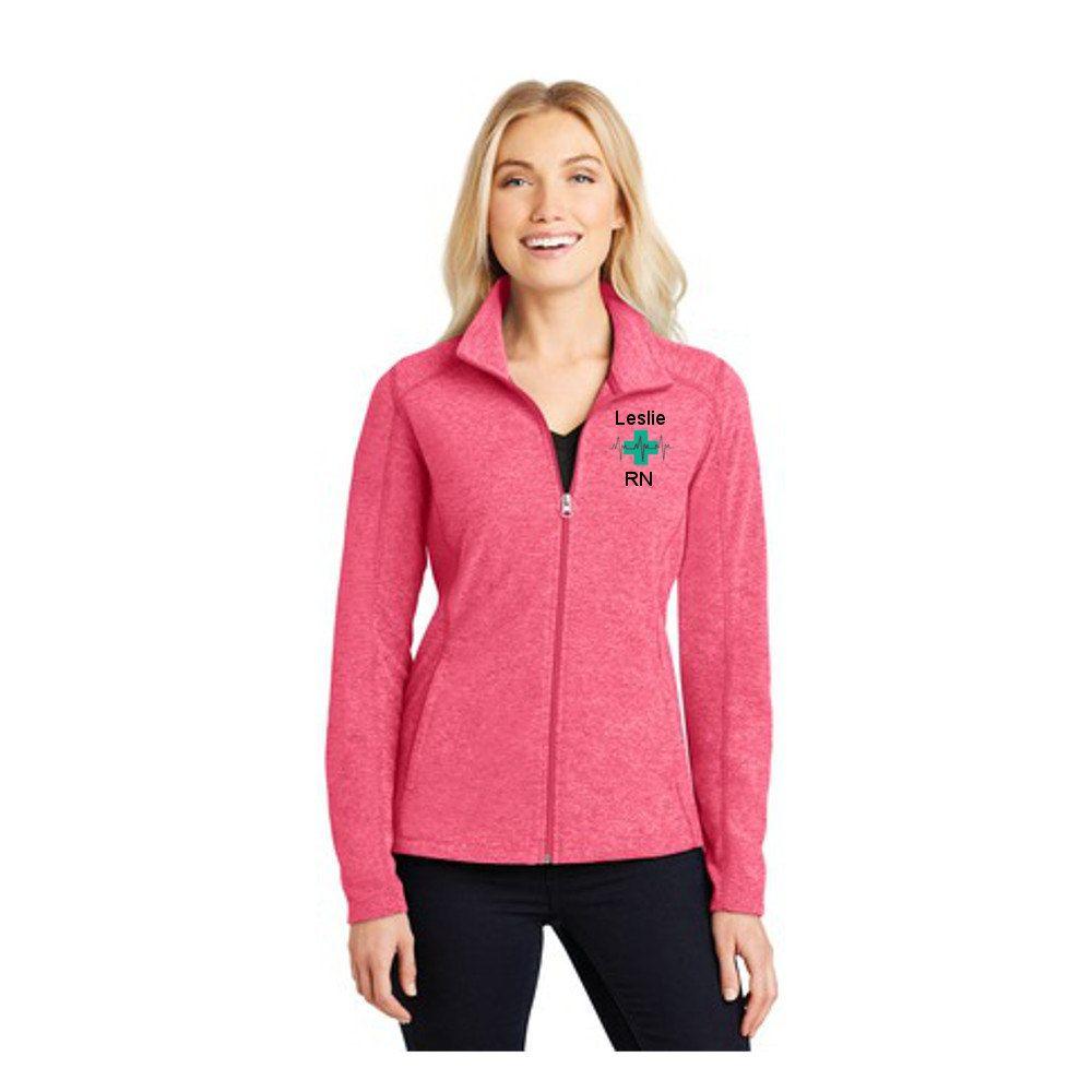 ... Fleece Jacket · Custom embroidery nurse jackets l231 black ...