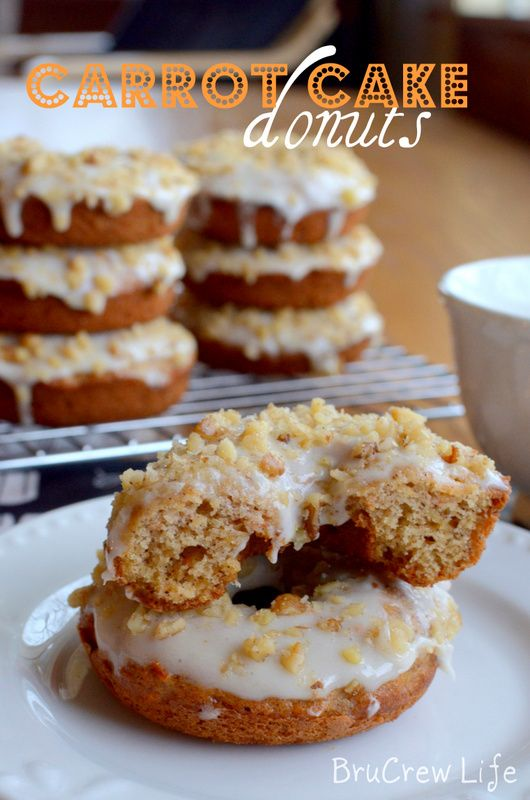 Carrot Cake Donuts - easy baked donuts with a carrot cake taste