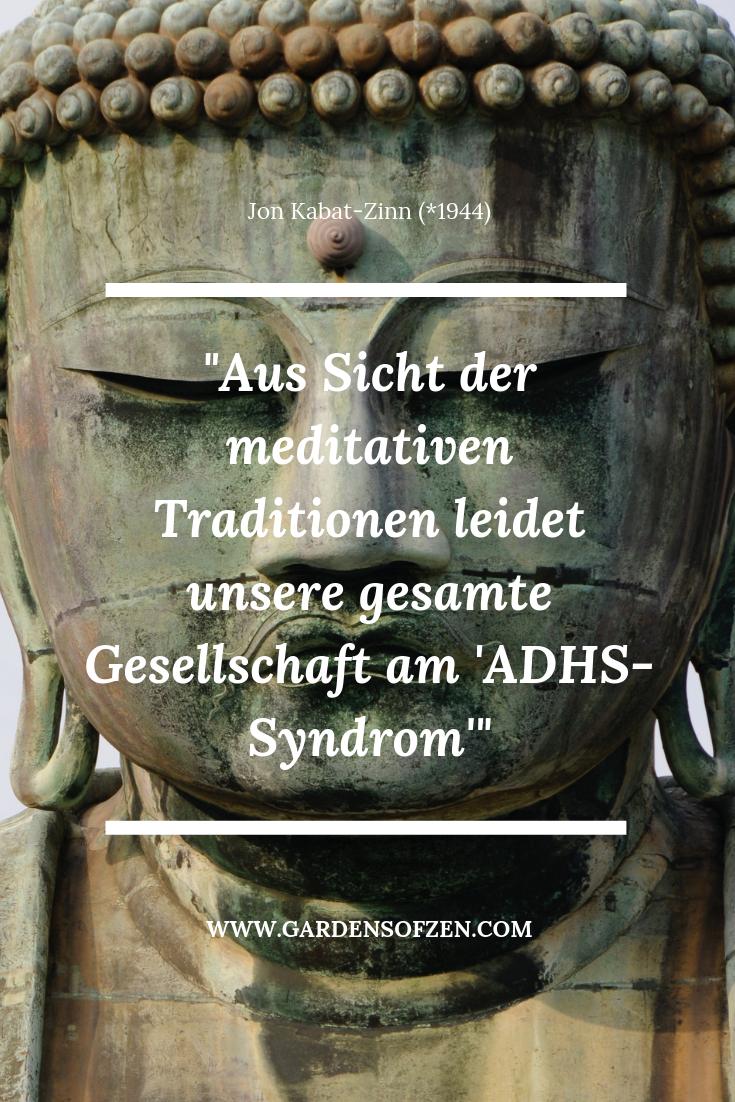 Aus Sicht Der Meditativen Traditionen Leidet Unsere Gesamte