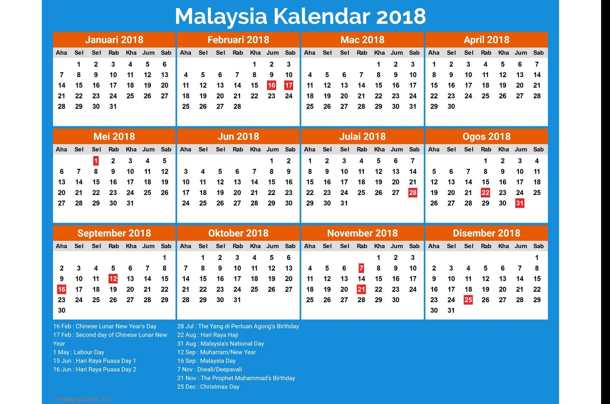 December 2018 Calendar Malaysia Calendar 2019 With Holidays Calendar March Printable Calendar Template