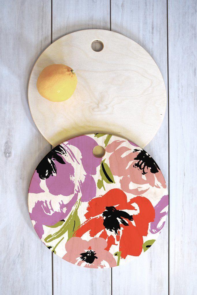 Gabriela Fuente Ultra Flora Cutting Board Round | DENY Designs Home Accessories